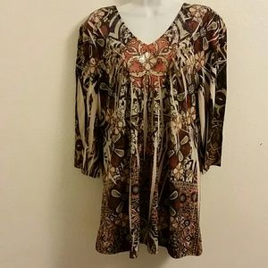 Unity Fall Color Blouse. 1X